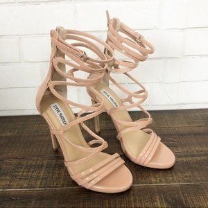 Steve Madden Flaunt Caged Heels Dusty Pink Sz 7.5
